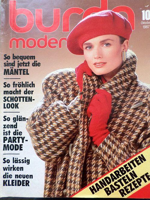 časopis Burda 10/1987 v němčině