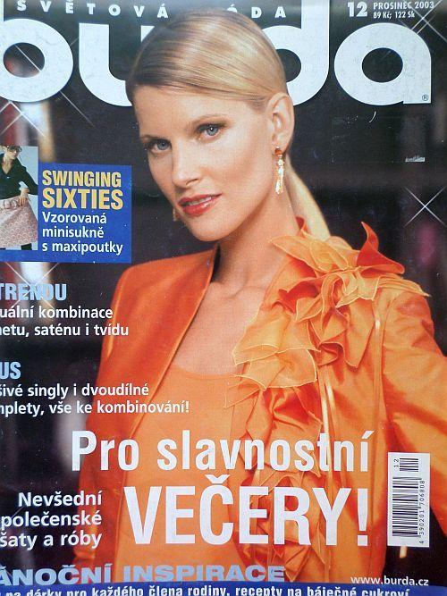 časopis Burda 12/2003 v češtině