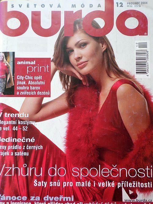 časopis Burda 12/2004 v češtině