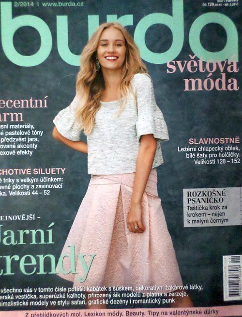 časopis Burda 2/2014 v češtině