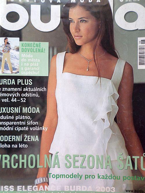 časopis Burda 6/2003 v češtině