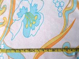 Italka - bílotyrkysový úplet 58x150cm - kus