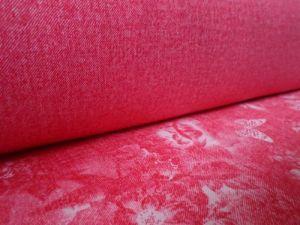 Ofélie - červená šatovka se vzorem