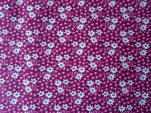 Raya - růžovobílá bavlna s kvítky