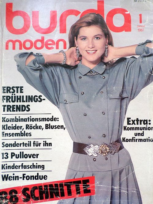 Burda 1/1987 v němčině
