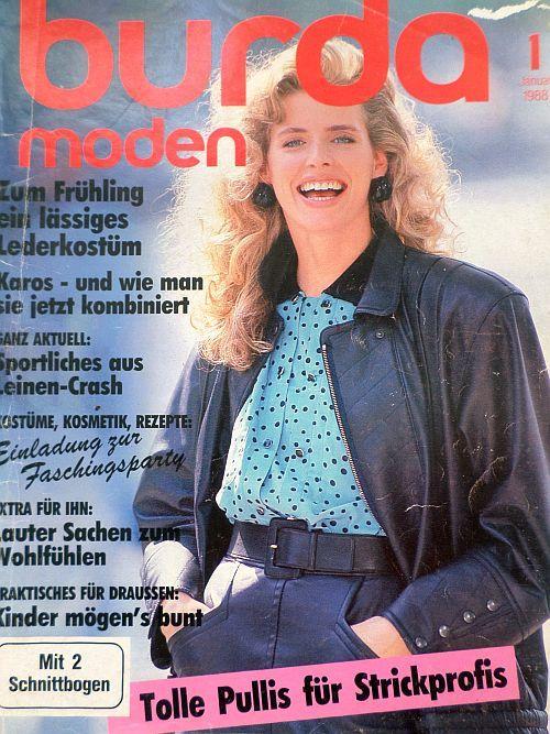 časopis Burda 1/1988 v němčině