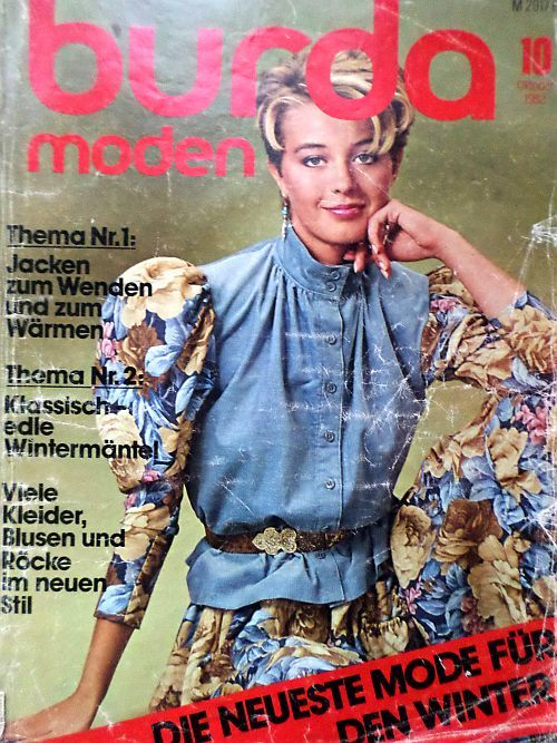 Burda 10/1982 v němčině