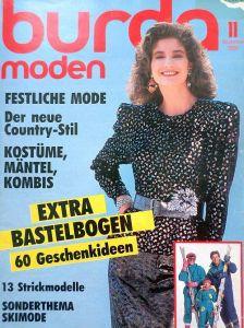 Burda 11/1986 v němčině