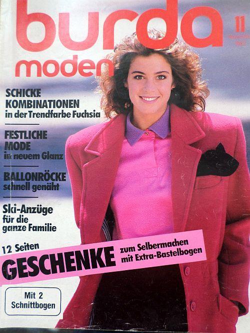 časopis Burda 11/1987 v němčině