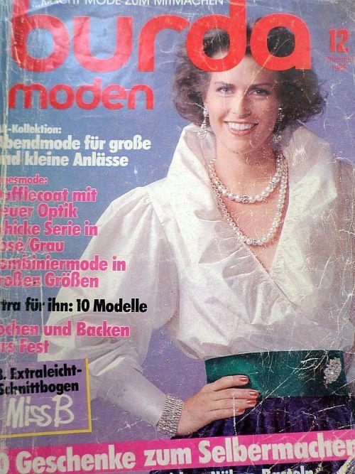časopis Burda 12/1985 v němčině