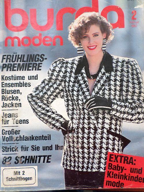 Burda 2/1987 v němčině