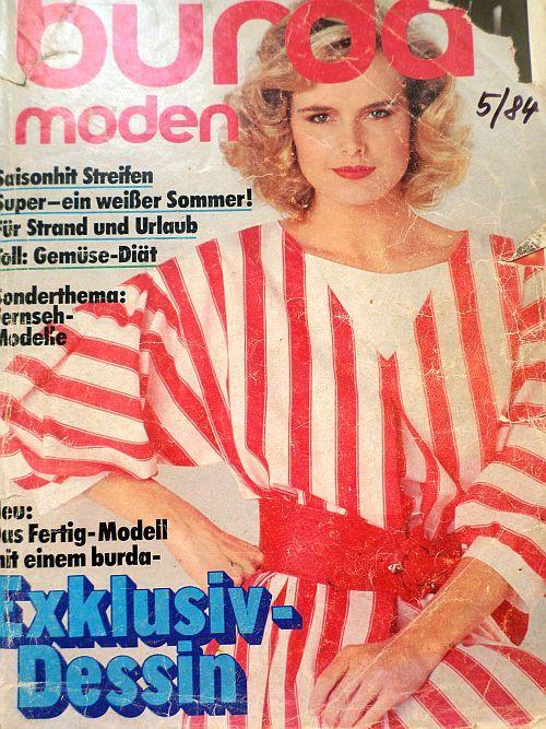 časopis Burda 5/1984 v němčině