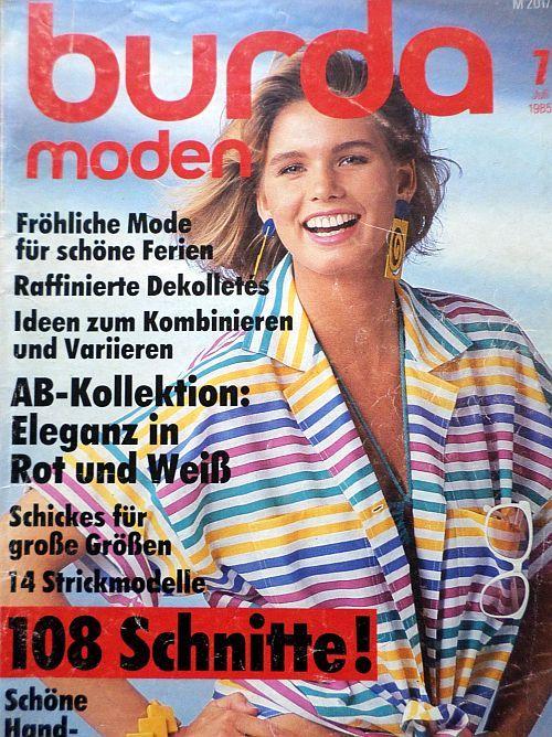 Burda 7/1985 v němčině