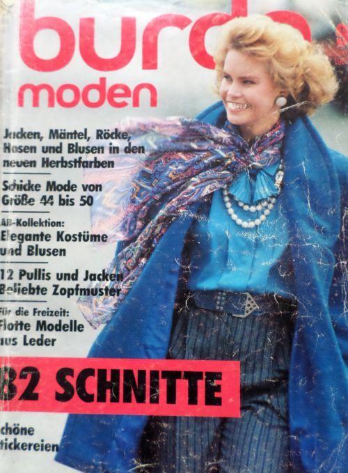 časopis Burda 9/1985 v němčině