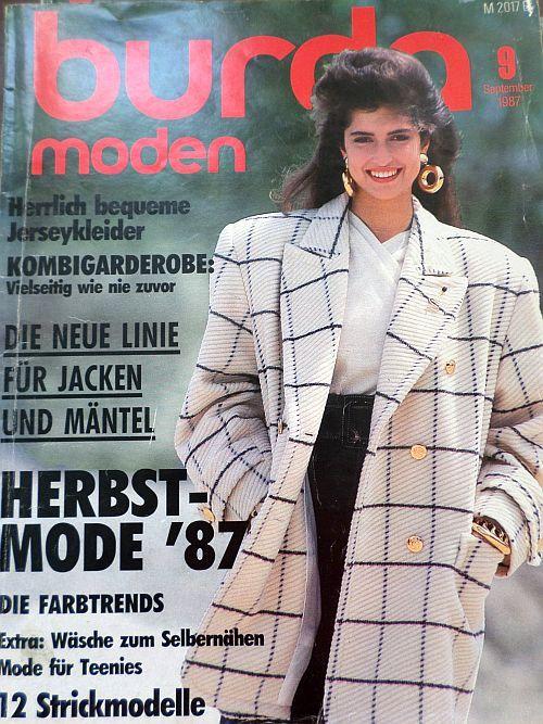 časopis Burda 9/1987 v němčině