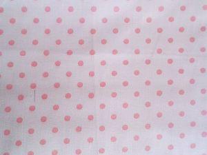 Gracy - bílá bavlna s růžovými puntíčky