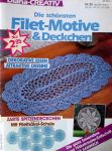 Háčkování - Filetové vzory č. 32