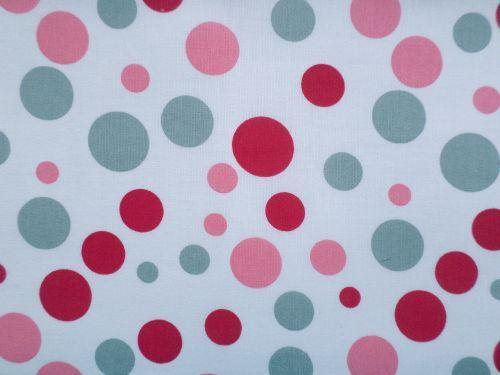 Kuličky - bílá s červenou, růžovou a šedou