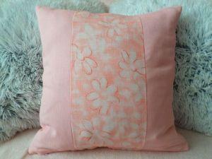 Povlak na poštář 40x40 cm - sv. růžový kombinace