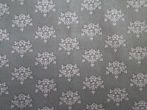 Riana - šedobílá bavlněná látka