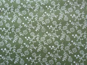 Ruslana - zelenobílá bavlněná látka