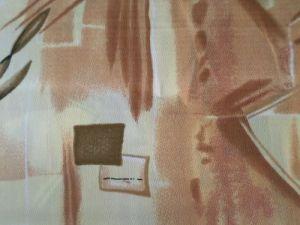 Sisi - žlutohnědá krešovaná látka 1,30x150cm - kus