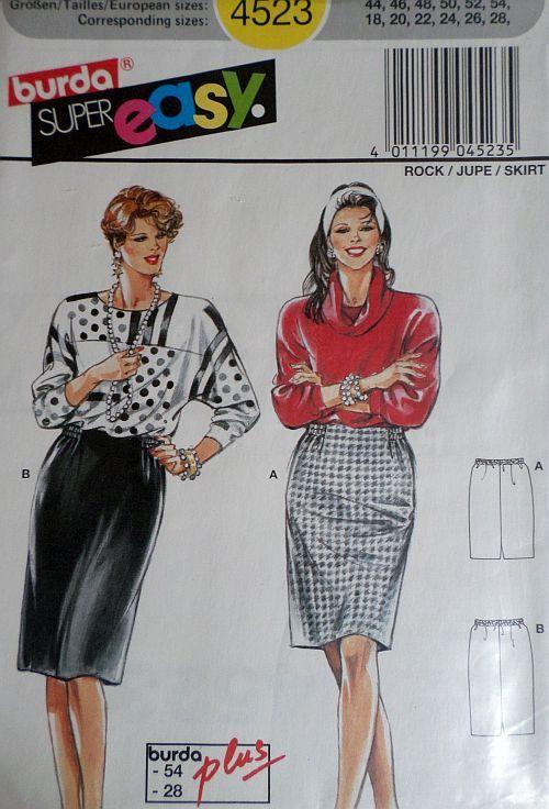 Střih BURDA - Dámská sukně vel. 44-54