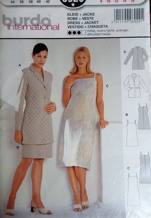 Střih BURDA - Dámské šaty a sako vel. 34-42