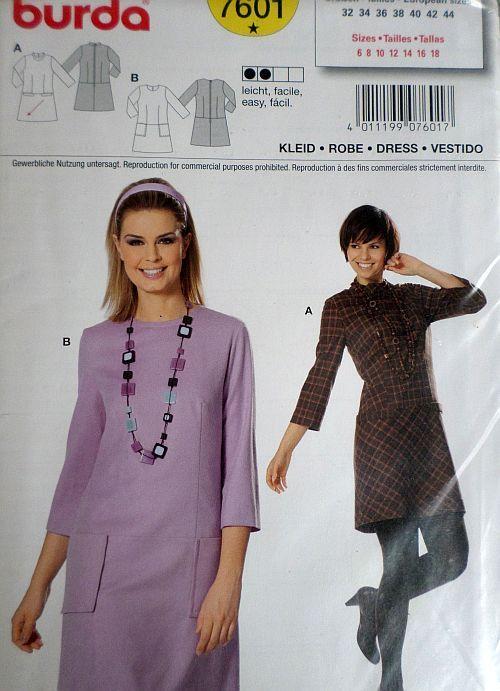 Střih BURDA - Dámské šaty vel. 32-44