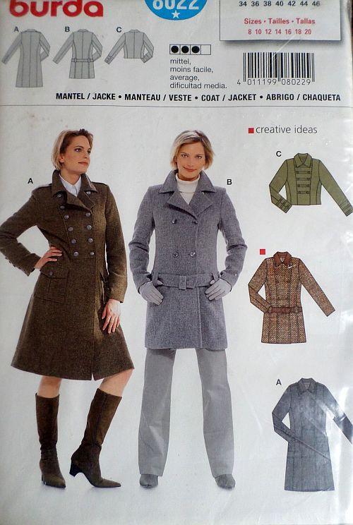 Střih BURDA - Dámský kabát a sako vel. 34-46