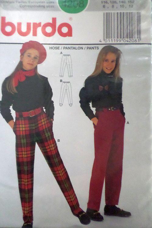 Střih BURDA - Dívčí kalhoty vel. 116-152