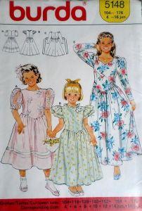 Střih BURDA - Dívčí šatičky vel. 104-176