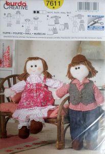Střih BURDA - Hadrová panenka a panáček