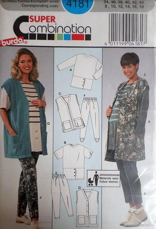 Střih BURDA - Těhotenské oblečení vel. 34-44