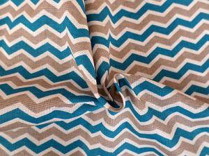 Chevron - bavlněné plátno s vlnkami
