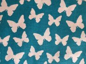 Motýli - petrolejová bavlna - plátno