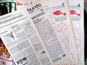 Burda 10/1974 RETRO v němčině