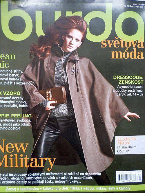 časopis Burda 10/2013 v češtině