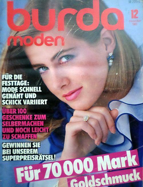 časopis Burda 12/1983 v němčině