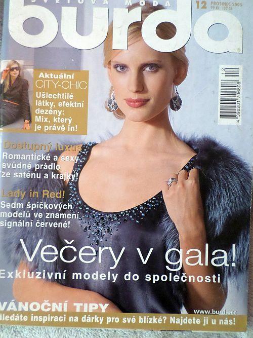 časopis Burda 12/2005 v češtině