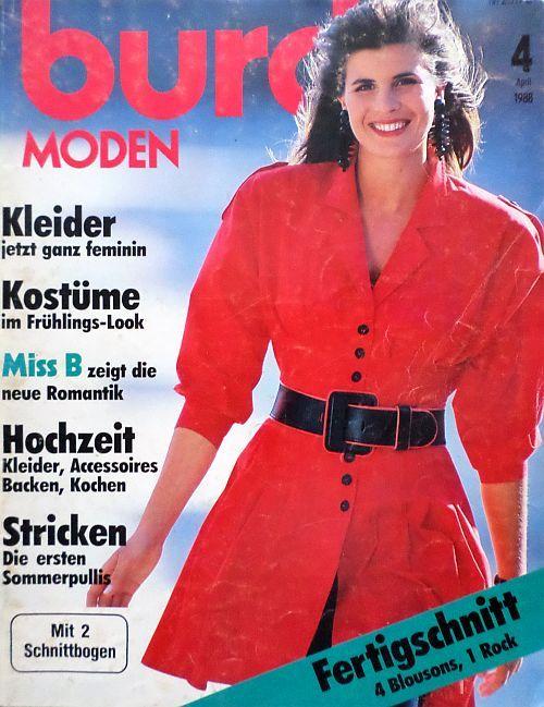 Burda 4/1988 v němčině