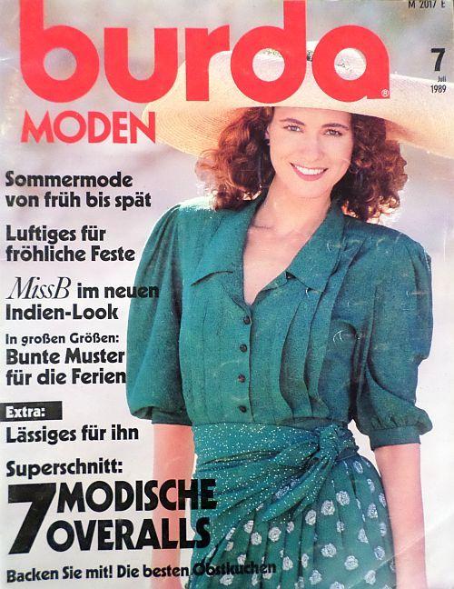 Burda 7/1989 v němčině
