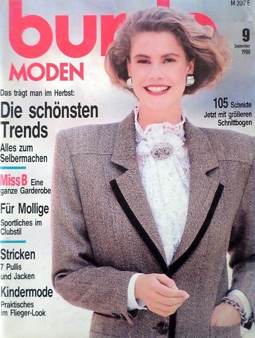 Burda 9/1988 v němčině