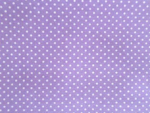 Bavlněná látka fialová s bílým puntíčkem