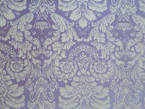 Dajána - fialková bavlněná látka se zámeckým vzorem
