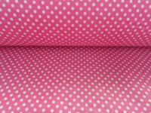 Damy - růžová látka s bílým puntíčkem