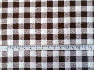 Lucka - bílohnědé káro 1 cm
