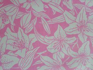 Markétka - růžová bavlněná látka s bílým vzorem