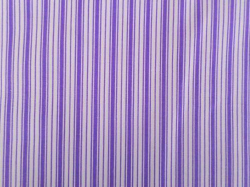 Olina - fialovobílá bavlněná látka s pruhy