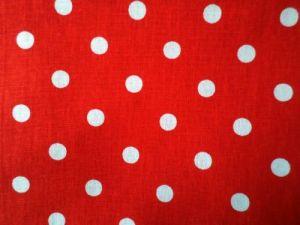 Rena - červená bavlna s bílými puntíky